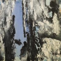 김유섭 <Floating View>, 2019, 캔버스에 아크릴릭, 100x100cm