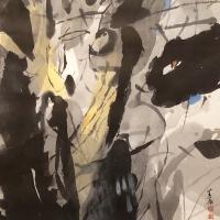 김대원 <옛날 옛적에>, 2020, 한지에 수묵담채, 163x112cm
