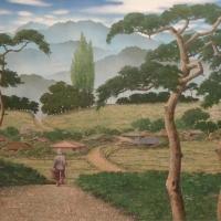 이강하 <솔마을의 아침>, 2005, 캔버스에 유채, 아크릴릭, 62x97cm