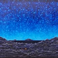 양나희 <별의 시>, 2019, 골판지에 유채, 72.7x51cm