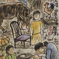 박은용 <가을날>, 2001.수묵담채.73x34cm.시립미술관 회고전.181206-2