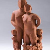 김용우 <피고지고>, 2018, 테라코타, 25x15x37cm