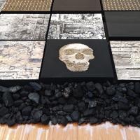 이매리 <지층의 시간>(부분), 2020 .혼합설치, 3.5x6.5m, 무안군오승우미술관